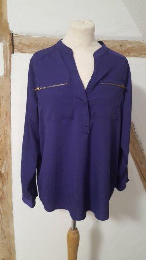 Janina Chiffonbluse Business Bluse Hemd lila Größe 38