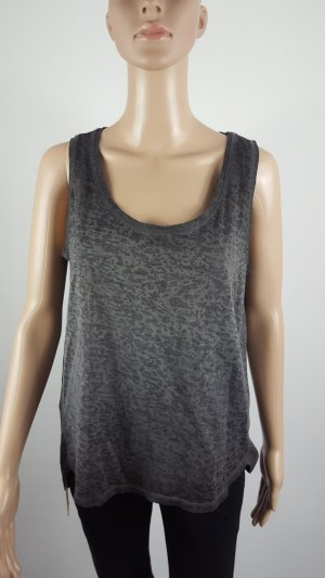 Janina Damen Hängerchen Top Tanktop Maxishirt grau gemustert Größe 42