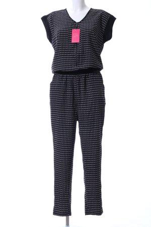 Janina Jumpsuit schwarz abstraktes Muster Casual-Look