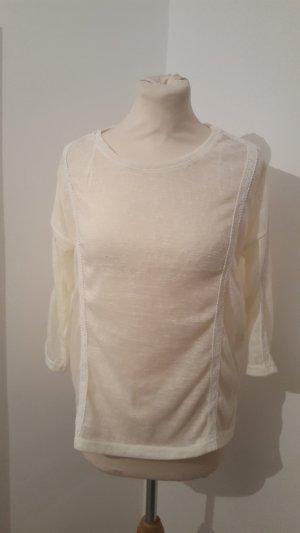 Janina Langarmshirt leicht transparent mit Spitze Größe 40