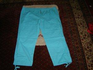Janina Capris turquoise-neon blue cotton