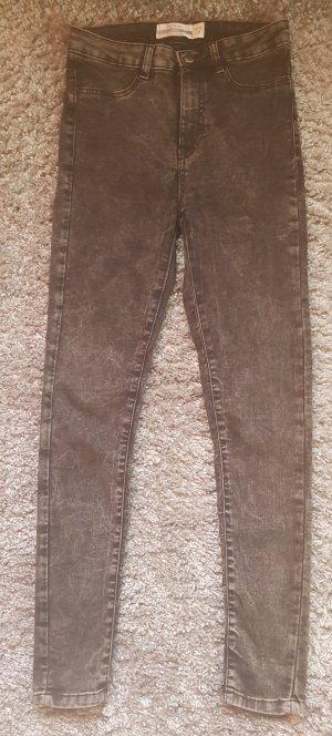 Janina Jeans a vita alta nero-grigio