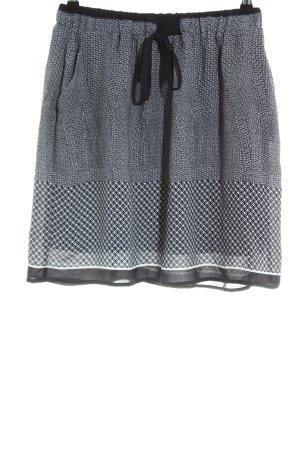 Janina Jupe corolle noir-blanc motif abstrait style décontracté