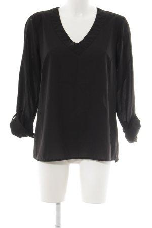 Janina Transparenz-Bluse schwarz schlichter Stil