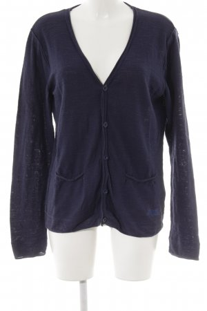 Japan rags Cardigan dunkelblau Casual-Look