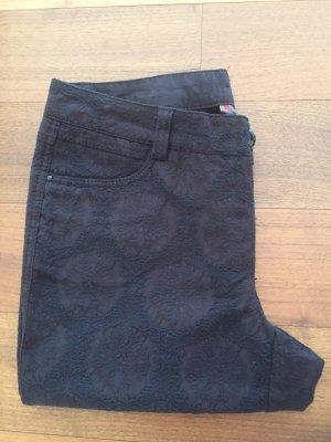 Street One 7/8-broek zwart-donkerbruin Katoen