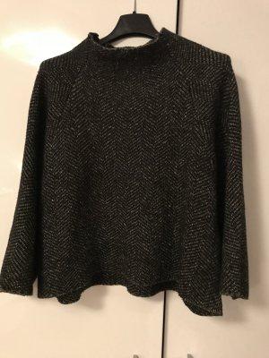 Zara Pull en laine noir-brun noir