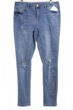 Jaqueline de Yong High Waist Jeans himmelblau Used-Optik