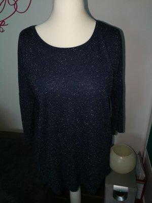 Jaqueline de Yong Shirt blau weiß meliert in der Größe M