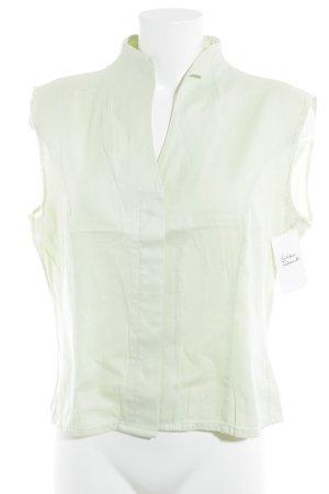 Jaques Britt ärmellose Bluse blassgrün Jeans-Optik