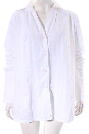 Jaques Britt Langarm-Bluse weiß Streifenmuster klassischer Stil