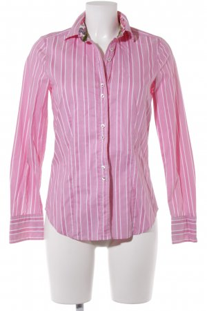 Jaques Britt Langarmhemd rosa-weiß Streifenmuster Casual-Look