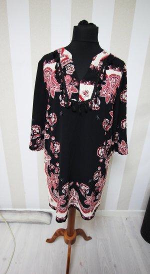 Jaune Rouge Robe tunique noir
