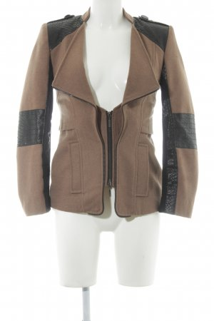 Javier Simorra Wool Jacket light brown-black animal pattern casual look
