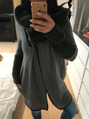 Coarse Knitted Jacket black-grey