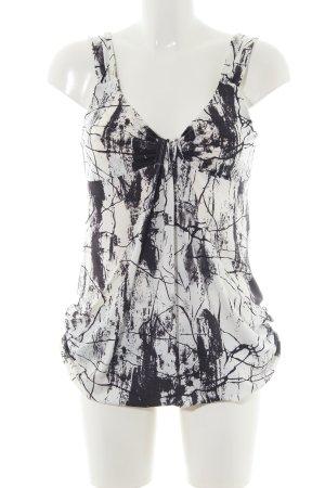 Jay Jays Longtop wollweiß-schwarz abstraktes Muster Casual-Look