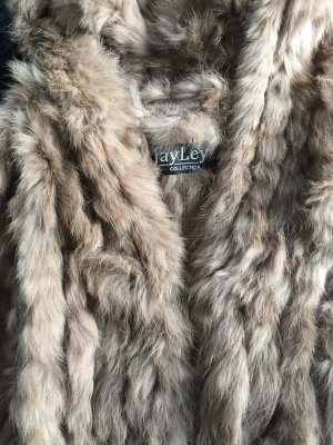 Fur vest grey brown-beige fur