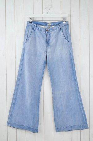 JBRAND Damen Jeans Mod.JOPLIN Weites Bein Schlagjeans Hellblau Baumwolle Gr.29