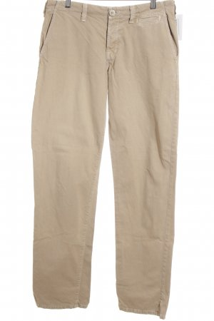 JBRAND Low-Rise Trousers camel distressed style