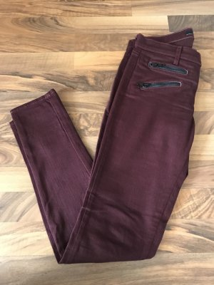 JBRAND Jeans cigarette bordeau