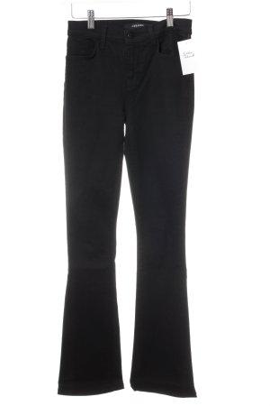 JBRAND Jeansschlaghose schwarz Casual-Look