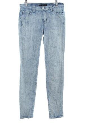 JBRAND Skinny Jeans blassblau florales Muster Used-Optik