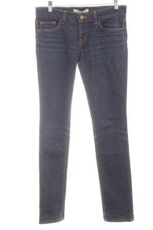 JBRAND Skinny Jeans dunkelblau Metallknöpfe