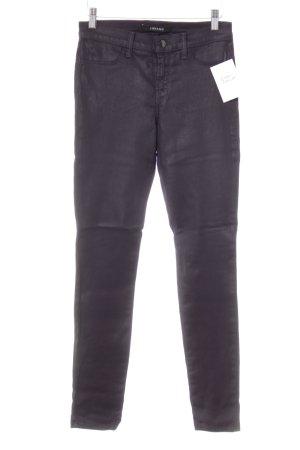 JBRAND Skinny Jeans dunkelviolett Glanz-Optik