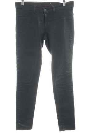 JBRAND Skinny Jeans schwarzbraun Glanz-Optik