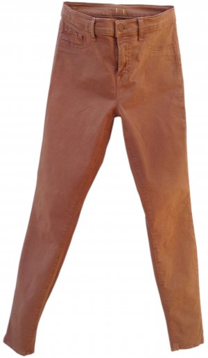 JBRAND Stretch Trousers bronze-colored-cognac-coloured cotton