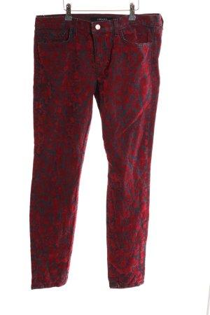 JBRAND Slim Jeans rot-blau Allover-Druck Elegant