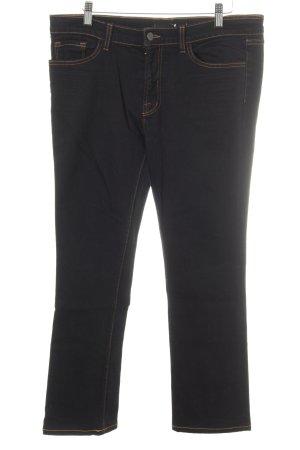 JBRAND Straight-Leg Jeans schwarz-goldorange Casual-Look