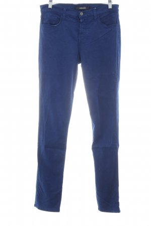 JBRAND Stretchhose blau schlichter Stil