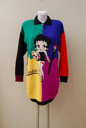 JC DE CASTELBAJAC -  Vintage Wollpullover - BETTY BOOP Stickerei