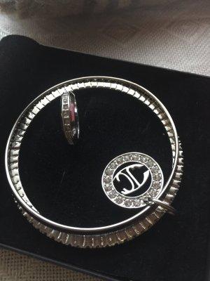 JC Bangle silver-colored