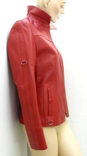 Veste en cuir rouge cuir