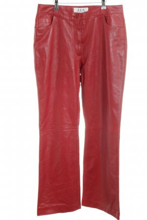 JCC Leather Trousers dark red extravagant style