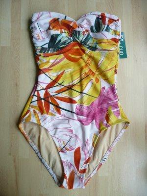 Je suis by Rachel Pappo Tropical Print Bandeau Badeanzug Gr 38 Cup B
