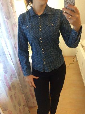 AEME Denim Shirt dark blue-cornflower blue