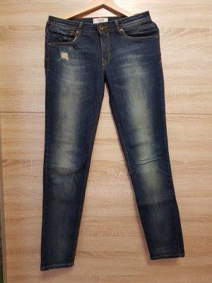 Mango Denim & Tees Jeans a gamba dritta blu