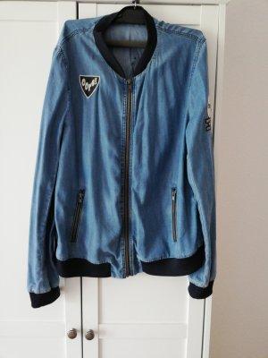 Zara Basic Blouson blu acciaio