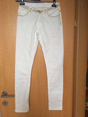 Blue Fire Jeans a 7/8 bianco-marrone-grigio