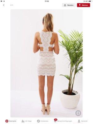 Kanten jurk wit-room