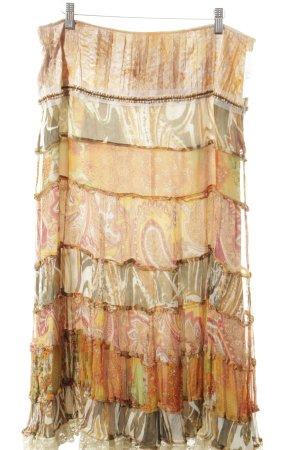 Jean Paul Berlin Midirock abstraktes Muster Gypsy-Look