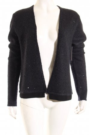 Jean Paul Berlin Strickjacke dunkelblau-anthrazit meliert Glitzer-Optik