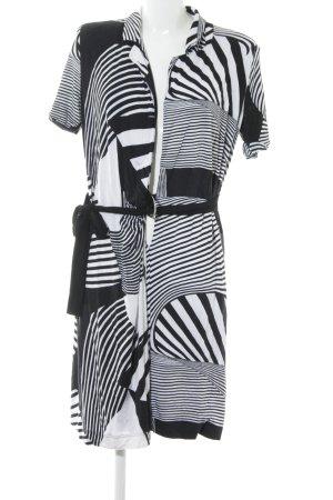 Jean Paul Berlin Abito avvolgente nero-bianco motivo a righe stile casual