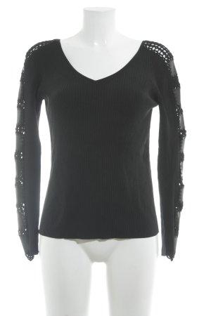 jean paul freiheit 11 V-Ausschnitt-Pullover schwarz Casual-Look