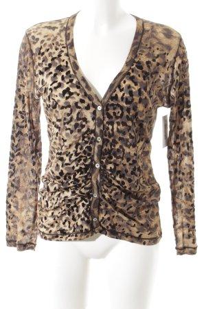 jean paul freiheit 11 Maglia con scollo a V Stampa leopardata impronta animale