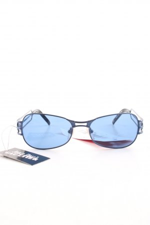 Jean Paul Gaultier Butterfly Glasses blue-black casual look