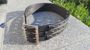 Jean Paul Gaultier Ceinture en cuir noir
